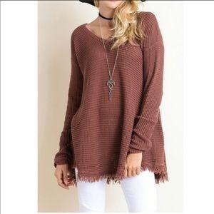 Wishlist waffle knit tunic sweater